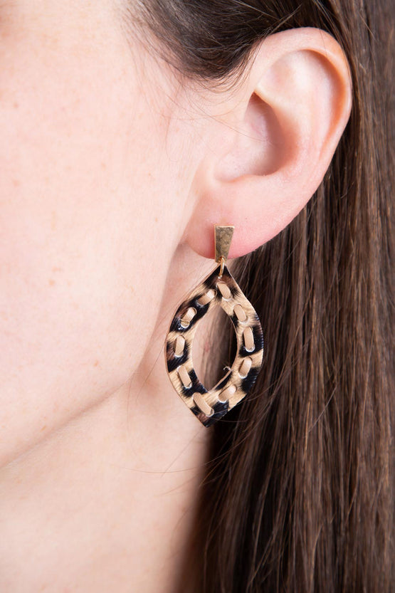 Type 3 Laced Leopard Earrings
