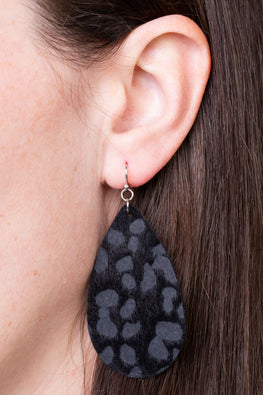 Type 4 Black Leopard Earrings