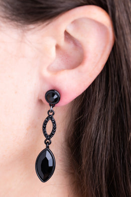 Type 4 Black Tie Earrings
