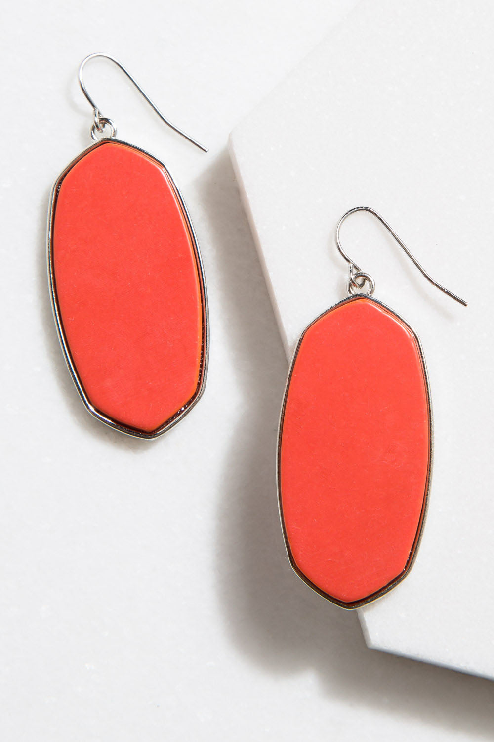 Type 4 Elegant Ellipse Earrings In Orange