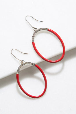 Type 4 Red Line Earrings