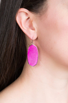 Type 4 Elegant Ellipse In Pink Earrings