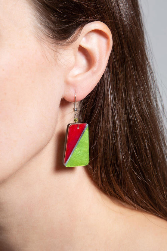 Type 4 Fuchsia Lime Earrings