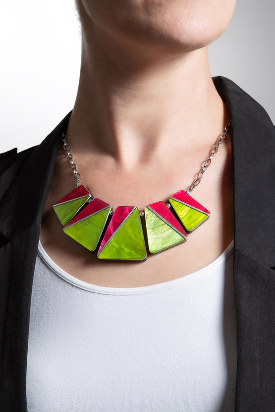 Type 4 Fuchsia Lime Necklace