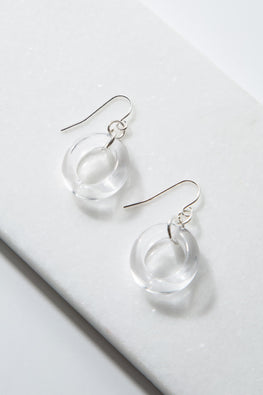 Type 4 Excite With Lucite Earrings in Clear