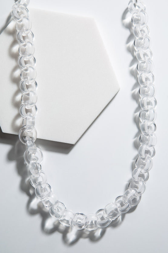 Type 4 Excite With Lucite Necklace in Clear