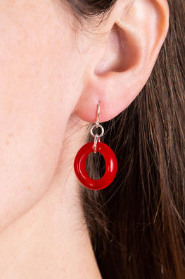 Type 4 Excite With Lucite in Red Earrings