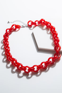 Type 4 Excite With Lucite in Red Necklace