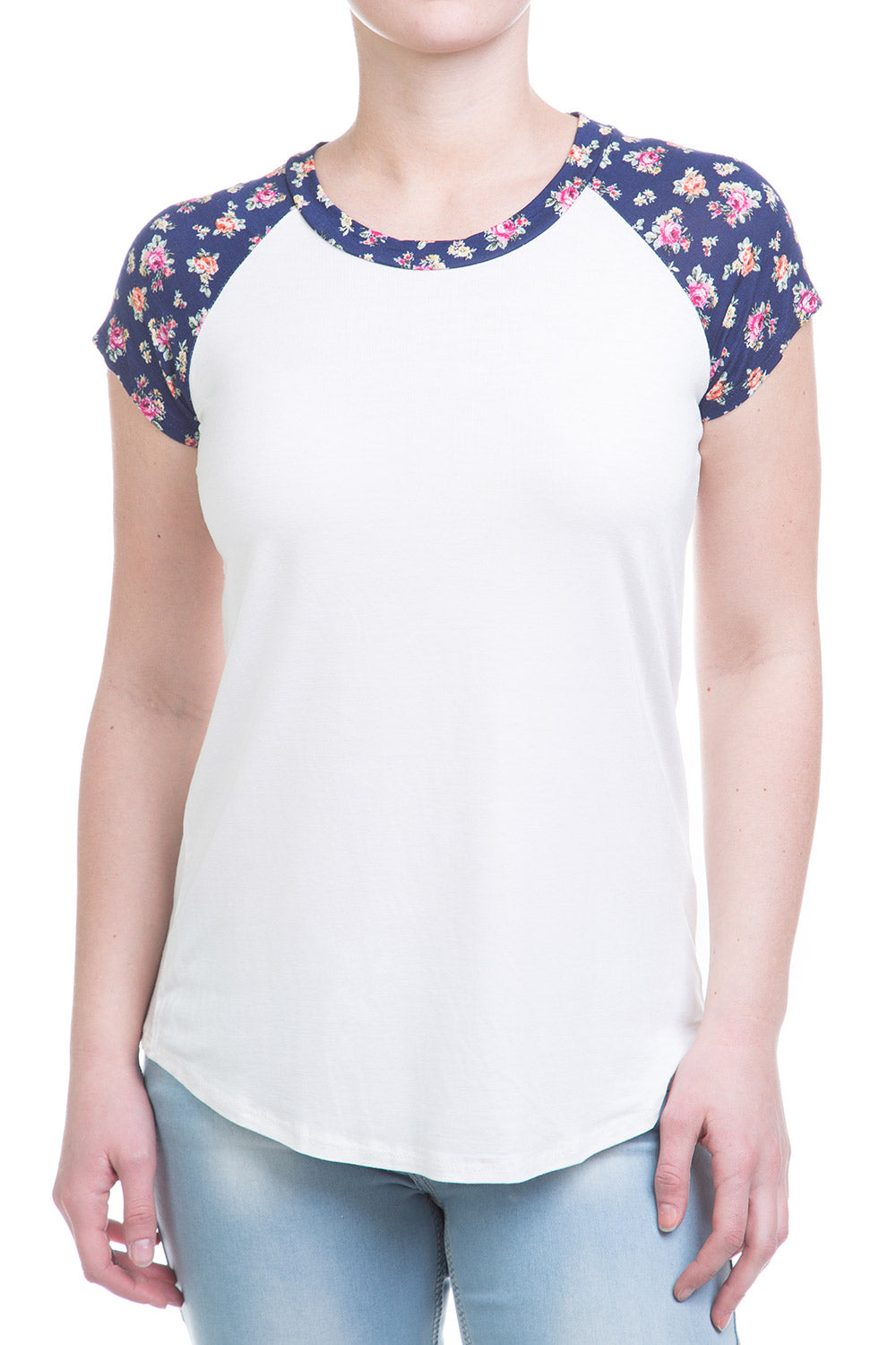 Type 1 Floral Trimmed Top