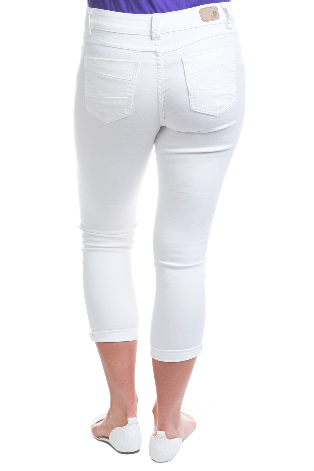 Type 1 Mid-Rise Crop Pants in Ivory