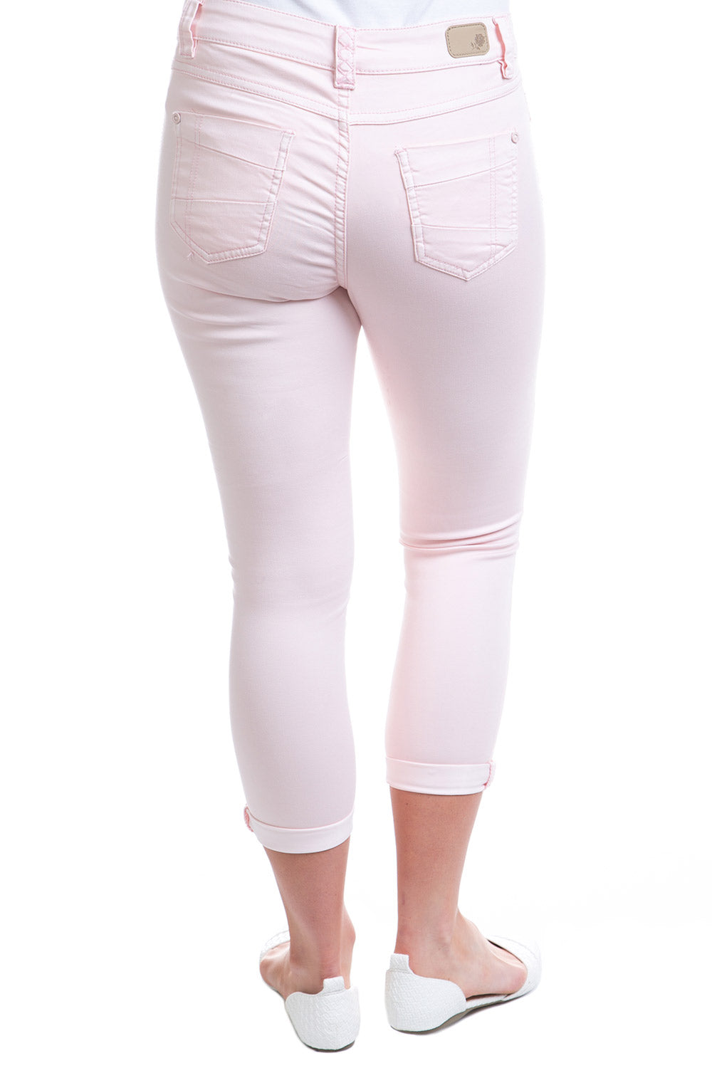 Type 1 Mid-Rise Crop Pants in Cupcake