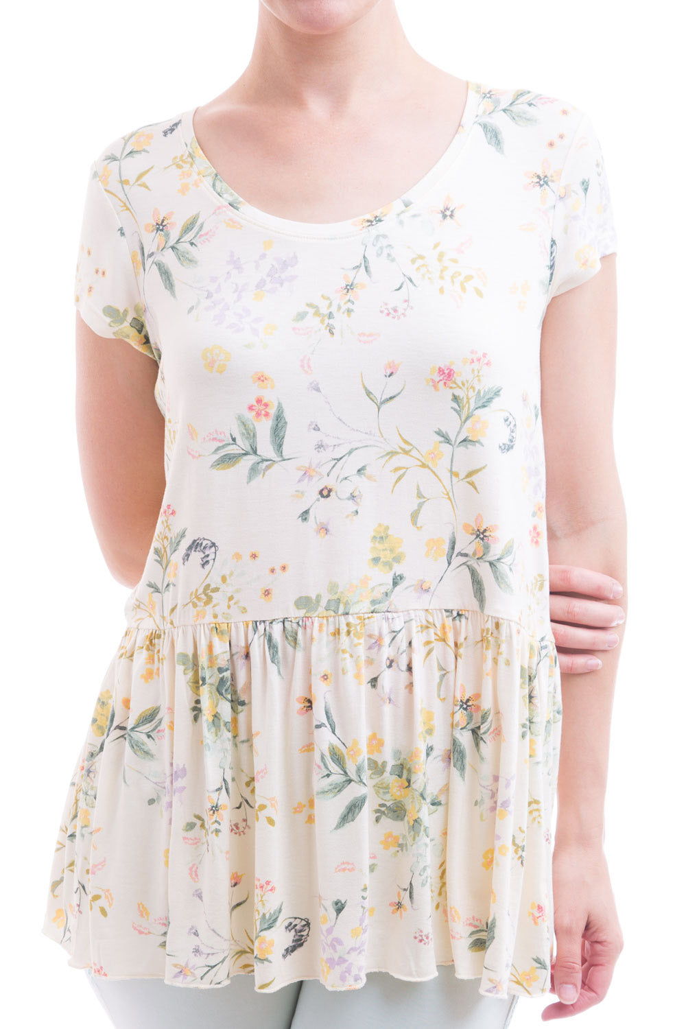 Type 2 Carefree Day Top In Wispy Flower