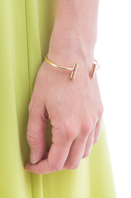 Type 3 Bar None Bracelet In Gold