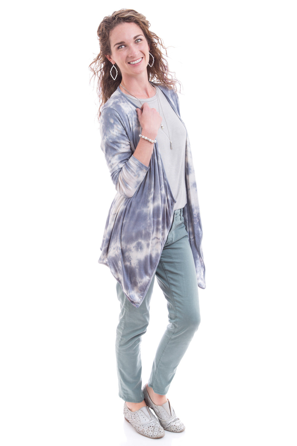 Type 2 Lazy Daze Top In Drizzle Gray