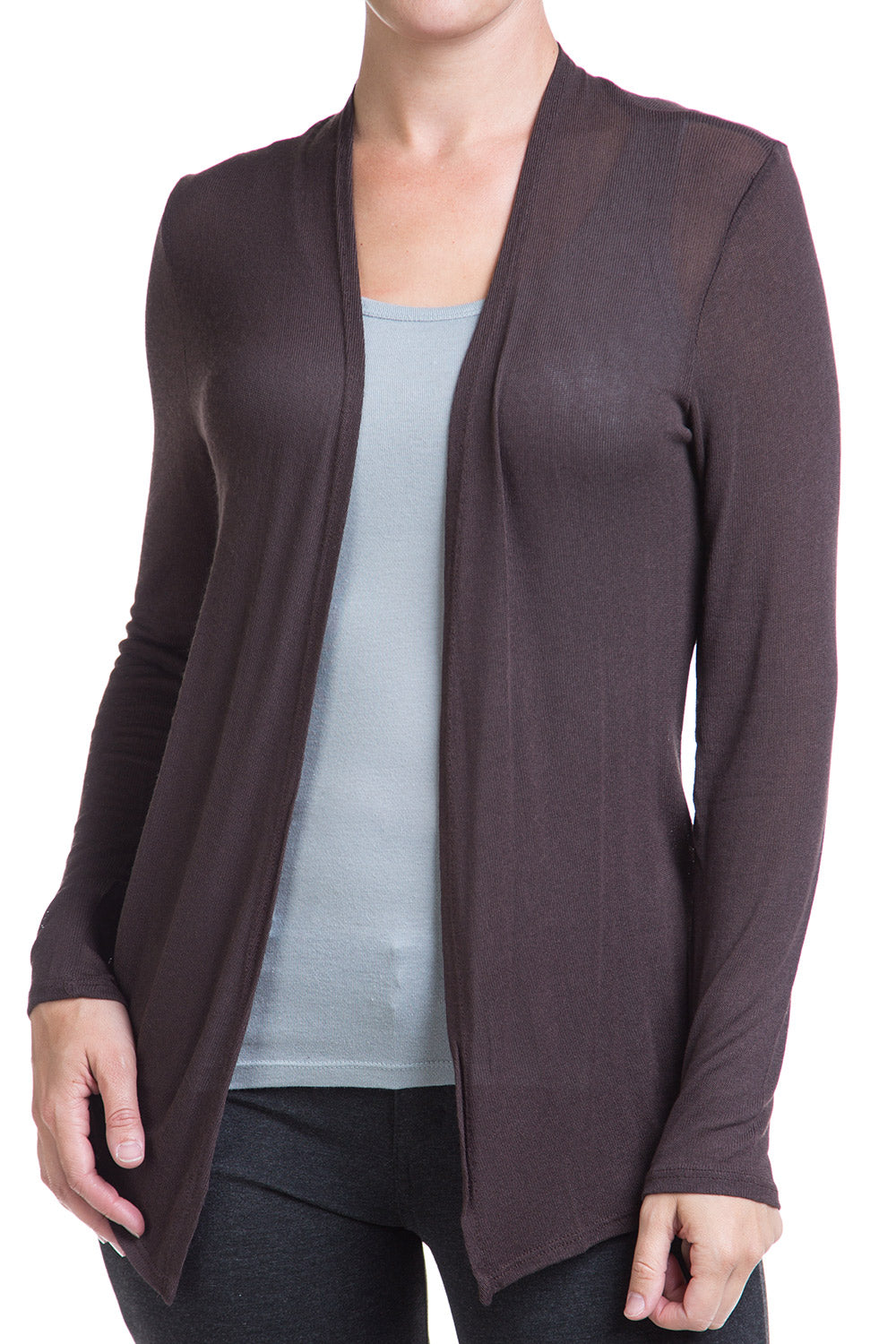 Type 2 Light Layer Cardigan in Brown