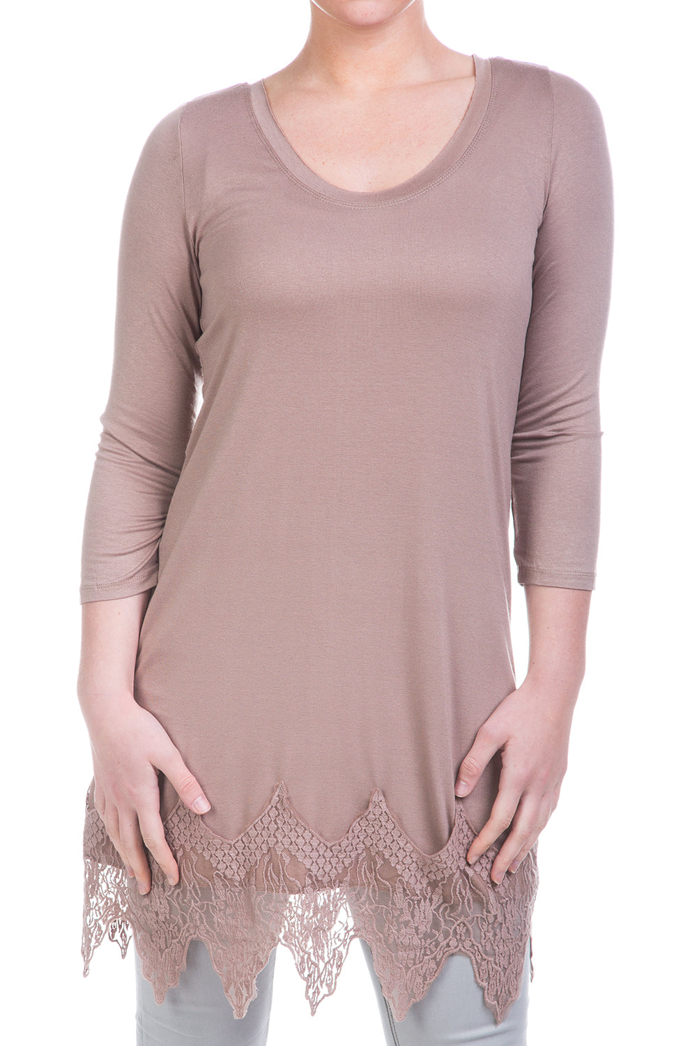 Type 2 L.A. Lady Top in Taupe