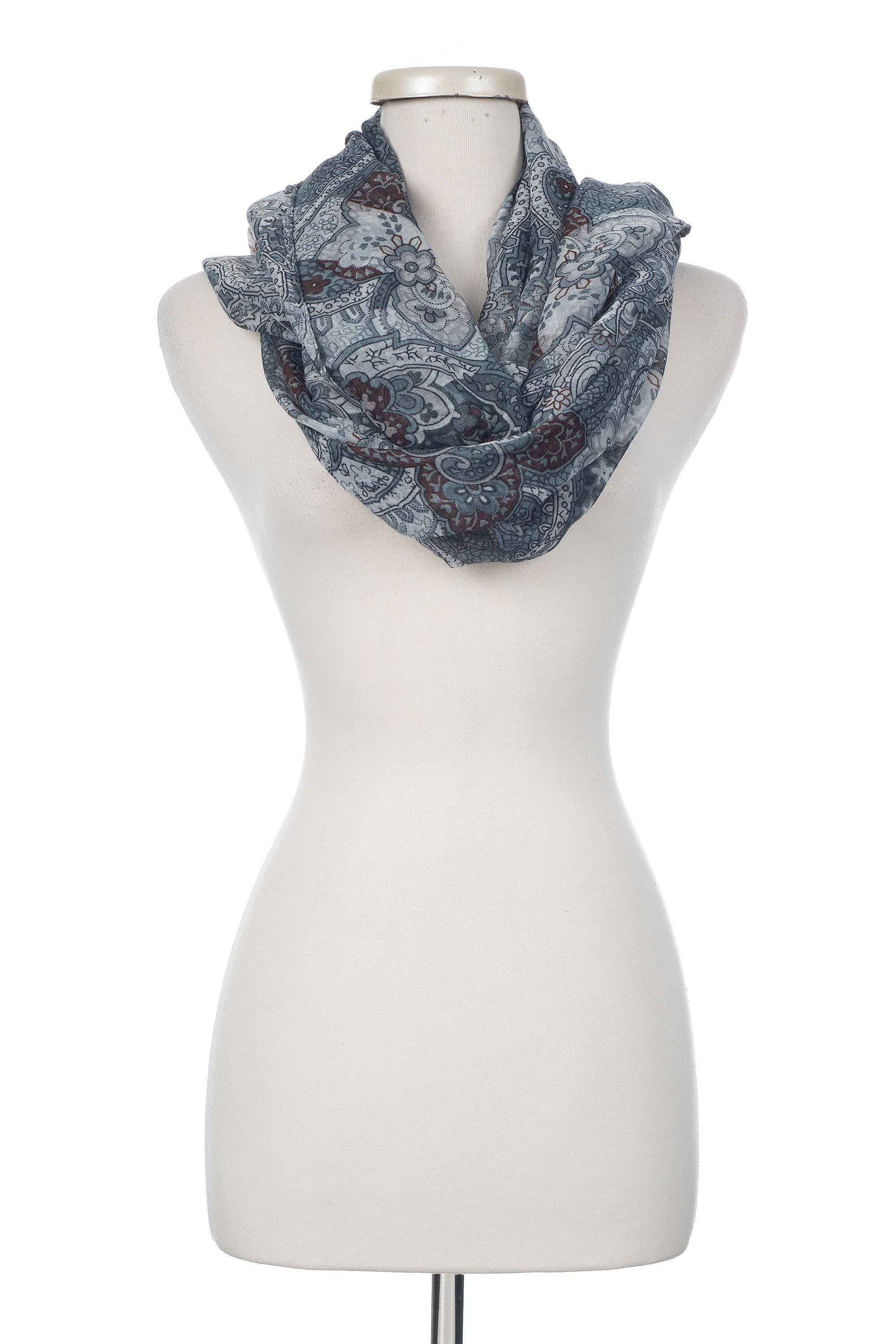 Type 2 Pewter Paisley Scarf