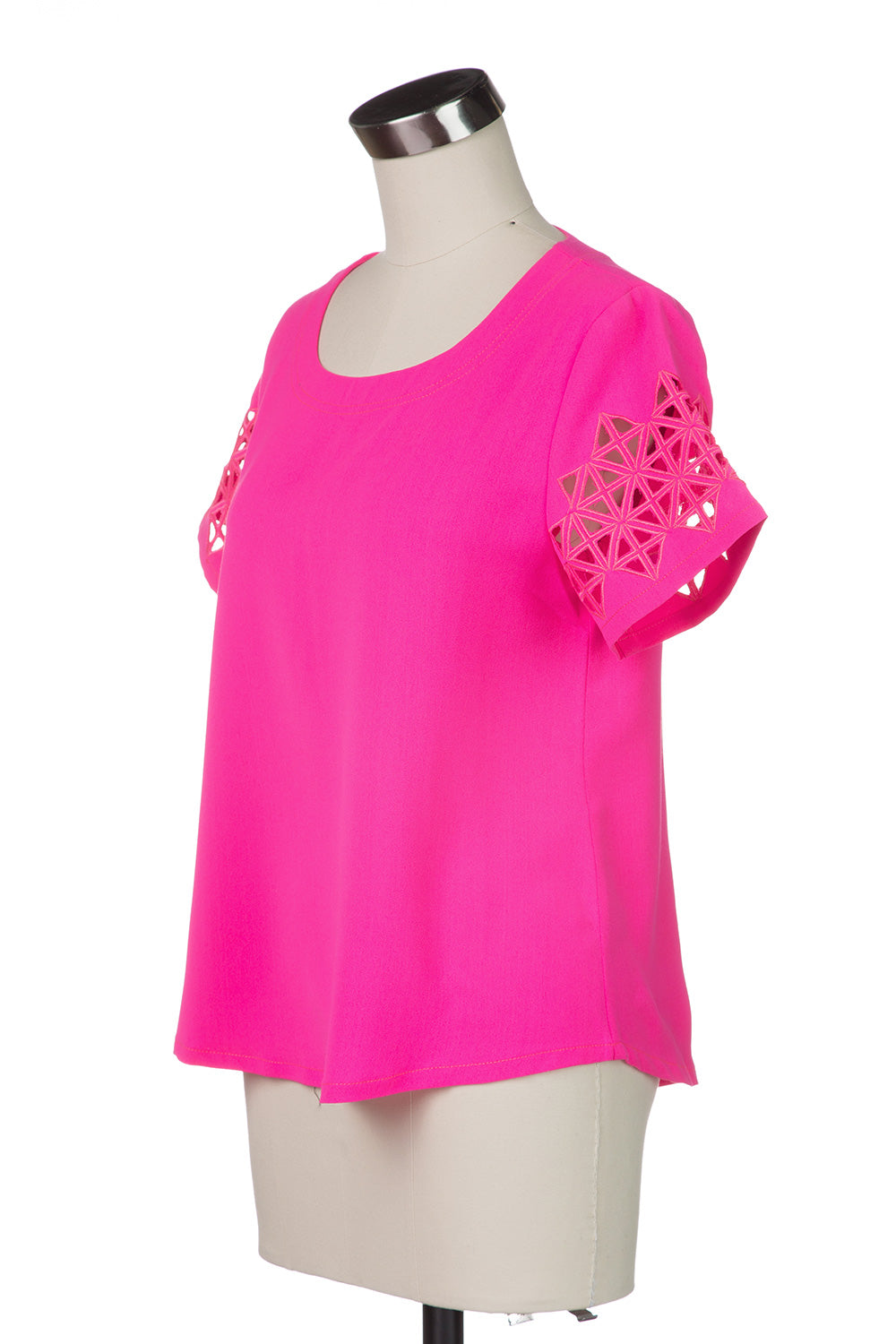 Type 4 Cut it Out Top in Neon Pink