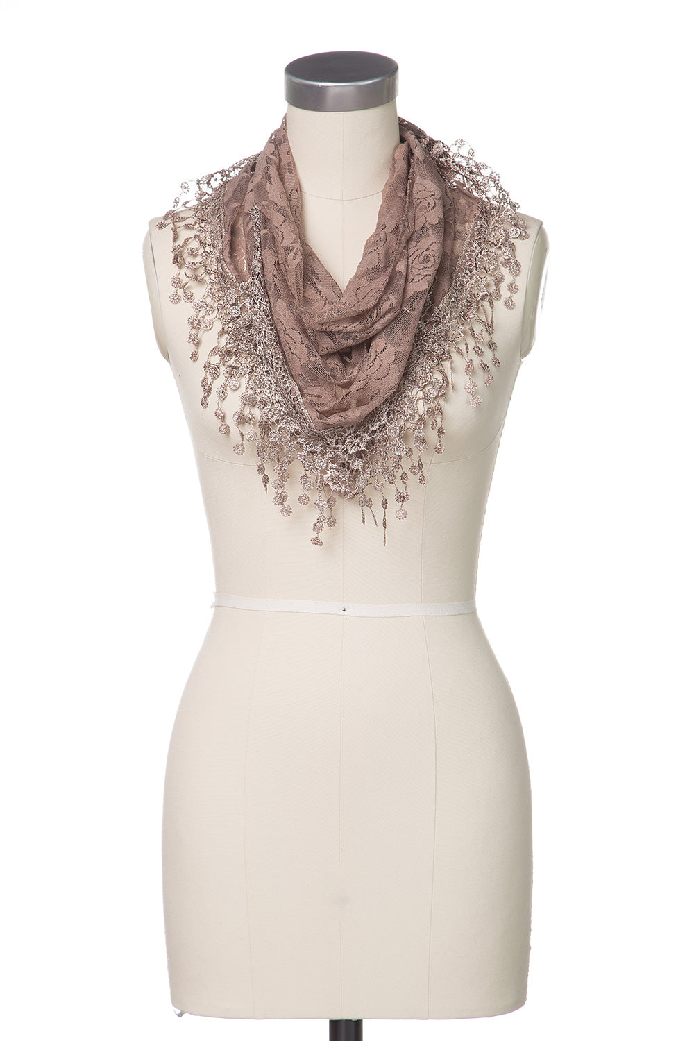 Type 2 Vintage Lace Scarf in Sepia