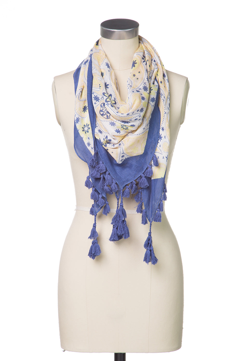 Type 2 Paisley Periwinkle Scarf