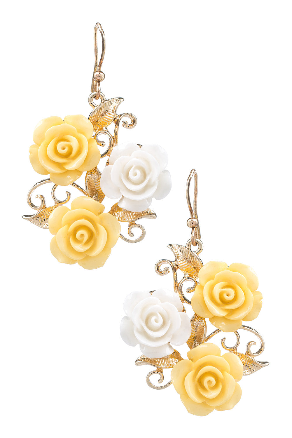 Type 1 Yellow Rose Of Friendship Earrings