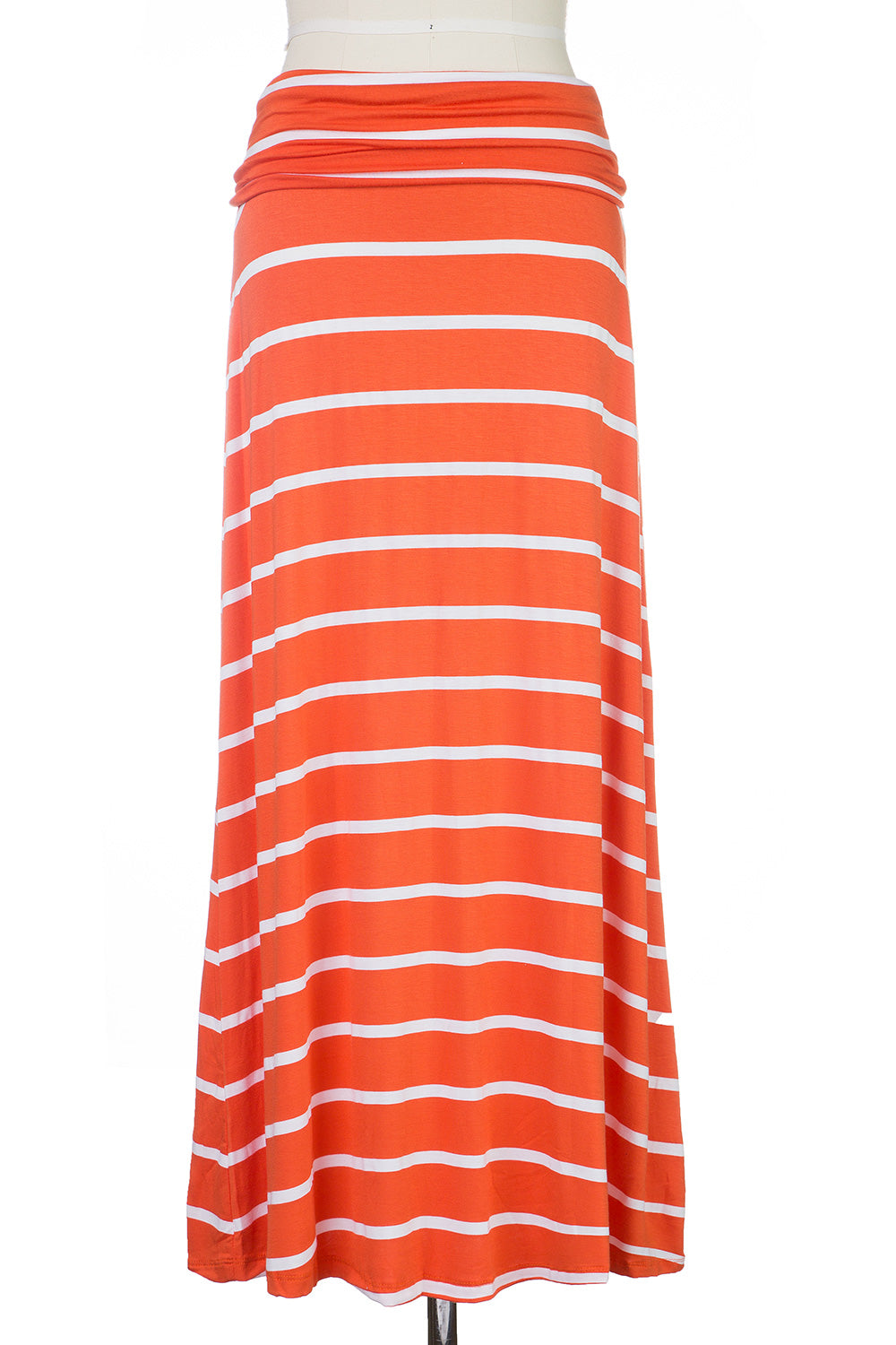 Type 4 Orange Striped Maxi Skirt