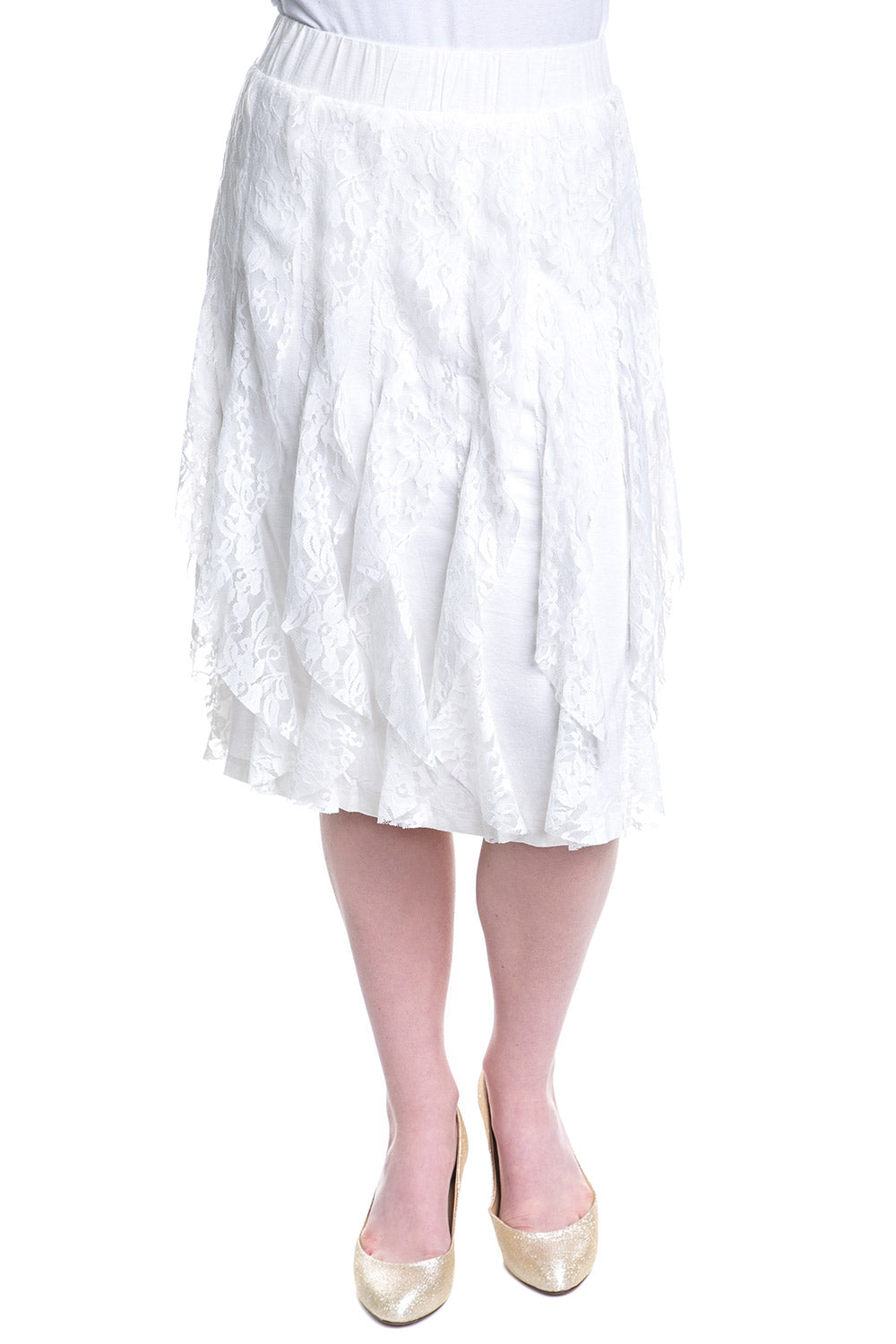 Type 1 Every Day Im Ruffling Skirt in Ivory