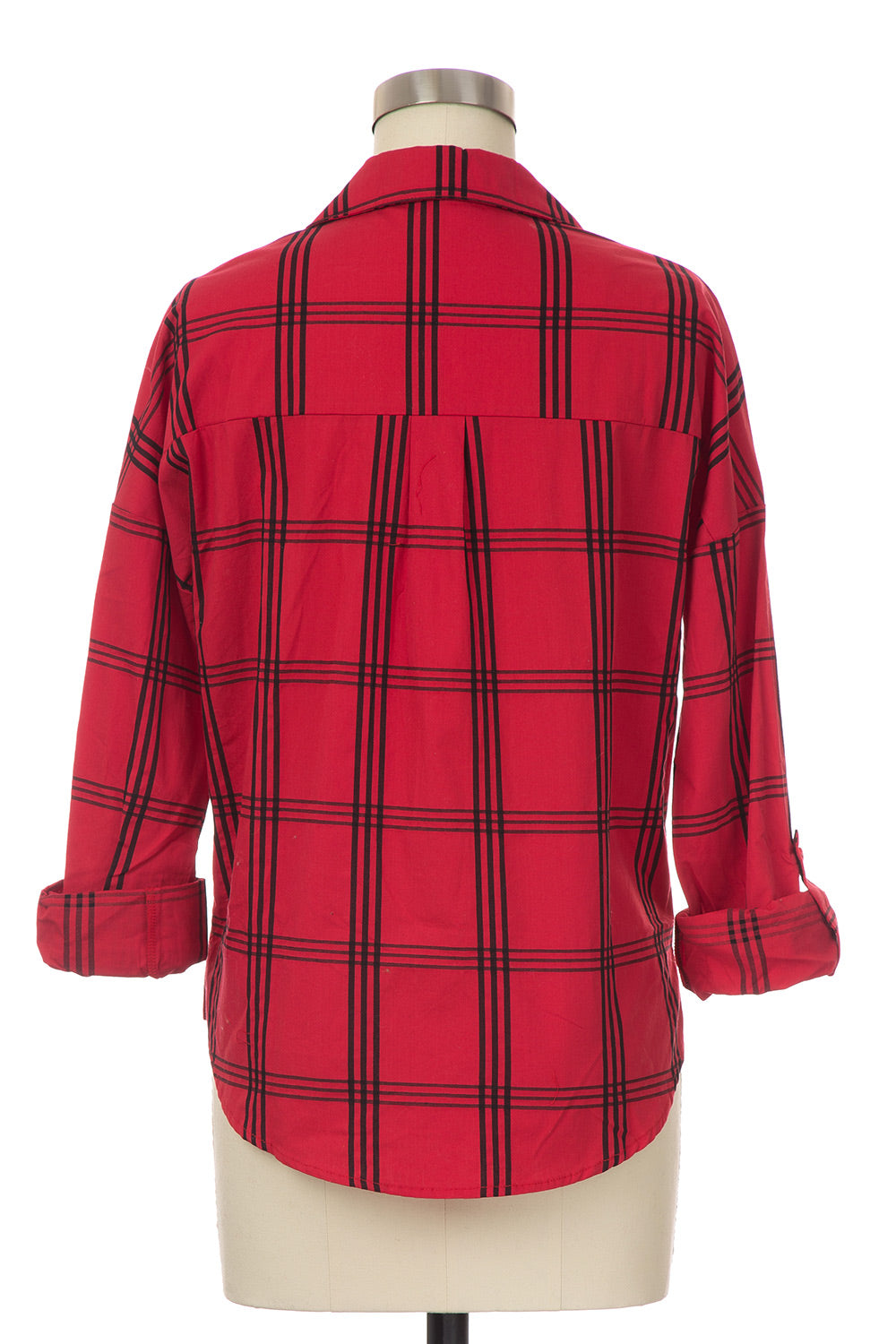 Type 4 Perfect Plaid Top in Red