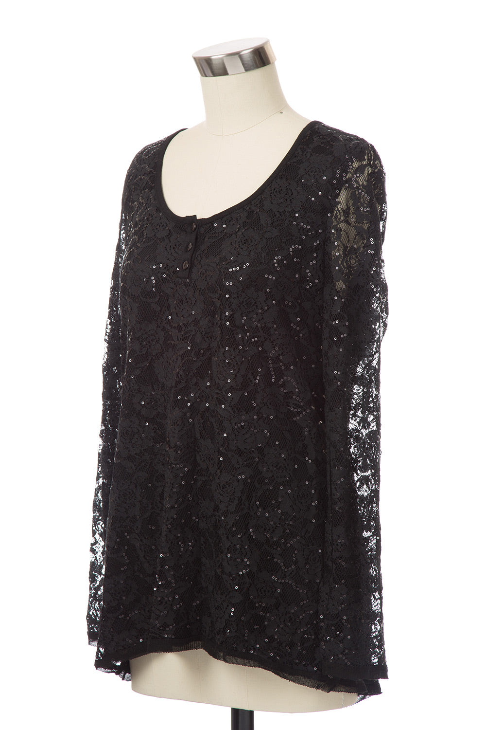 Type 4 Holiday Sparkle Top in Black