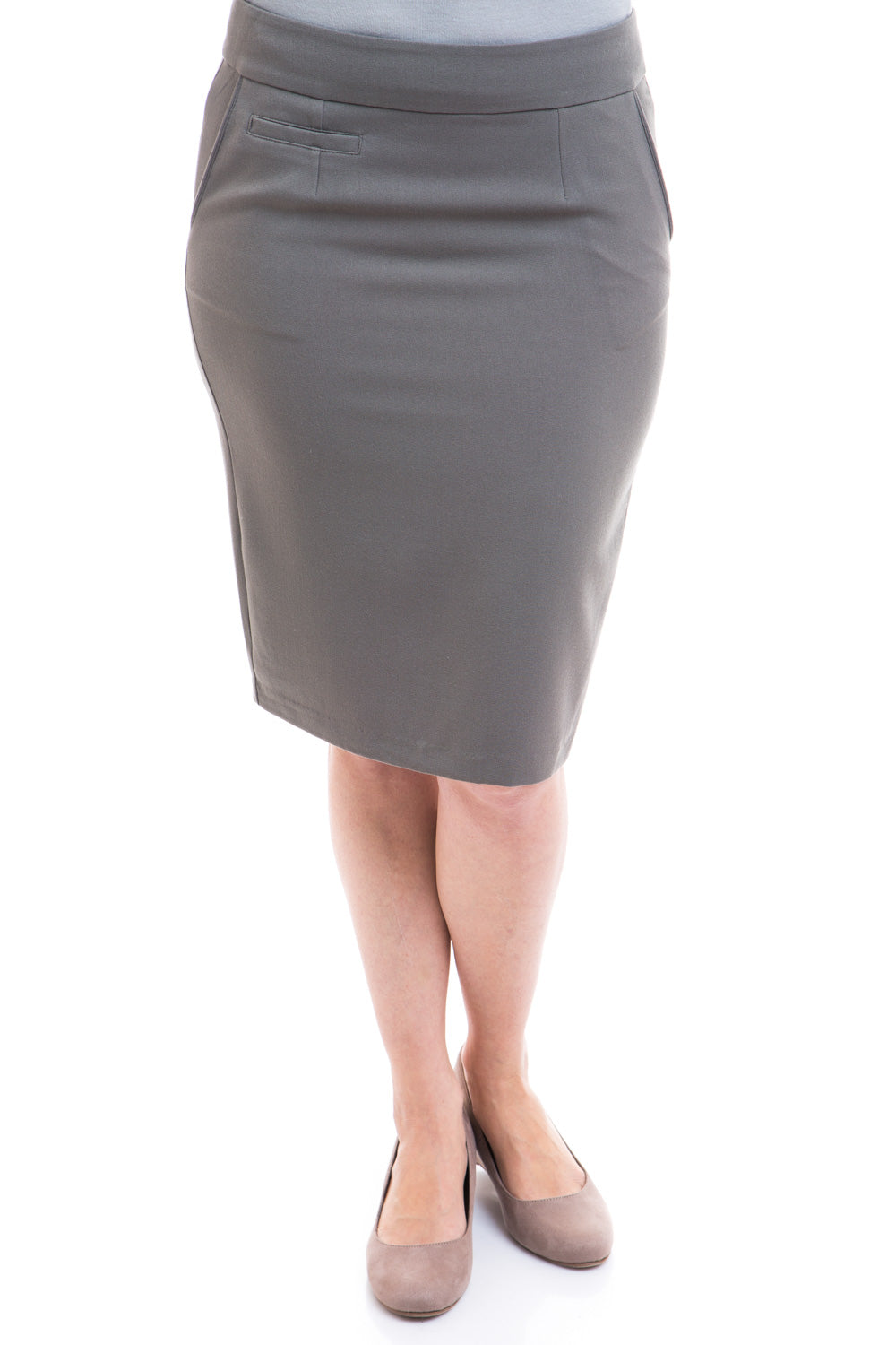 Type 2 Ashy Taupe Pencil Skirt