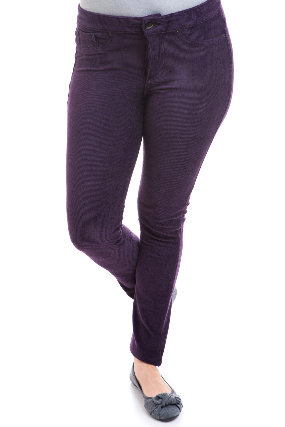Type 2 Corduroy Jeggings in Plum