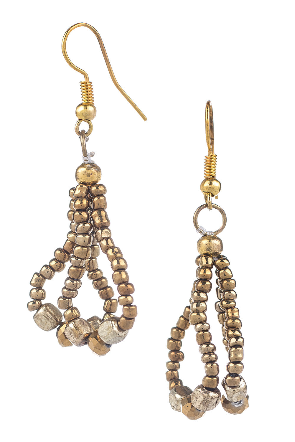 Type 3 Wraparound Gold Earrings