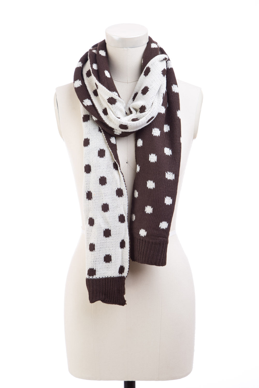 Type 1 Chocolate Dots Scarf