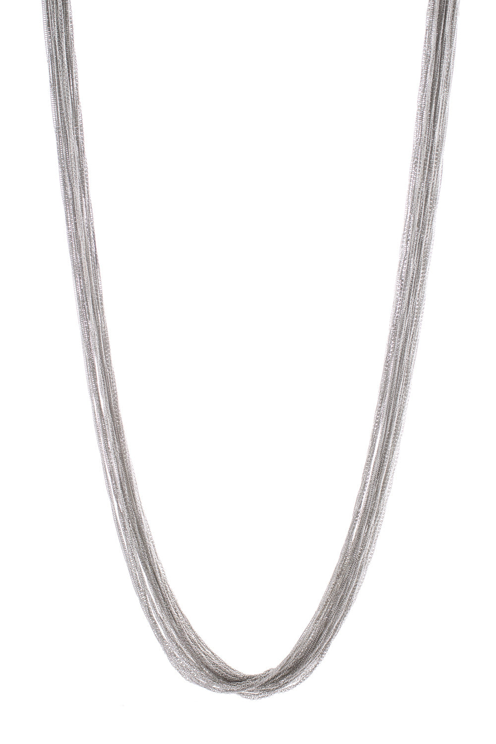 Type 2 Fluid Silver Necklace
