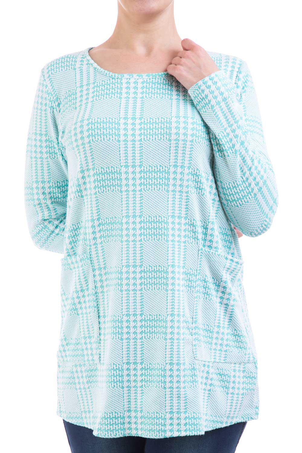 Type 1 Wintergreen Houndstooth Tunic
