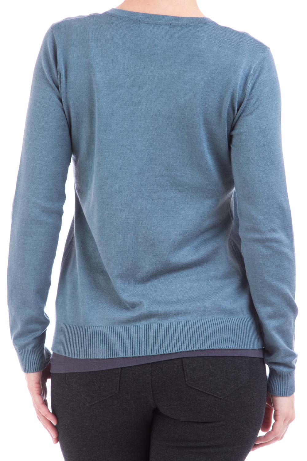 Type 2 Essential Crew-neck Cardigan In North Blue