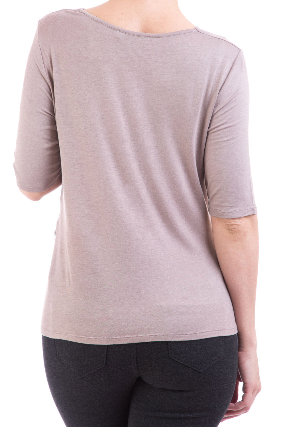 Type 2 Soft Spoken Top in Taupe