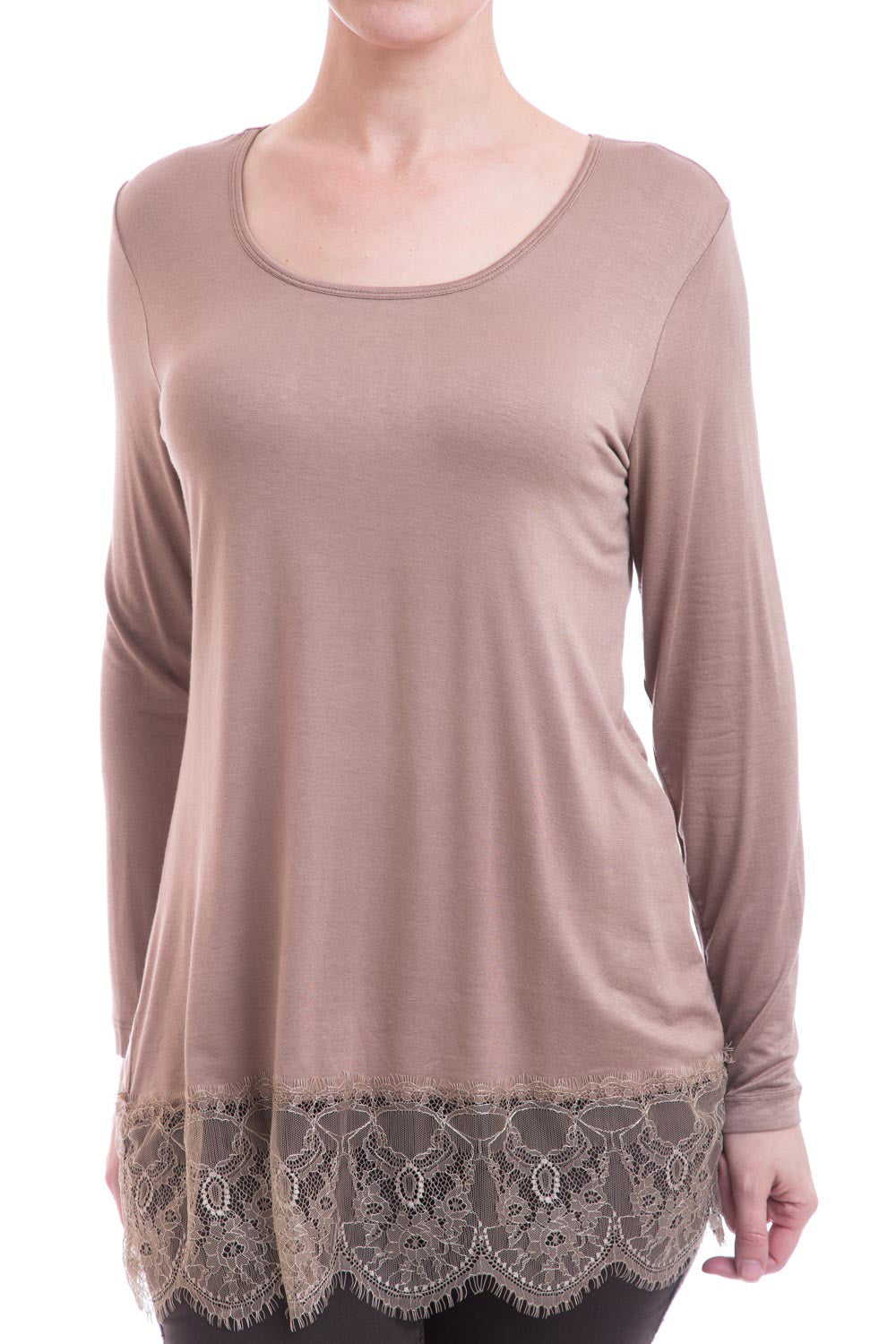 Type 2 Tea Party Taupe Top