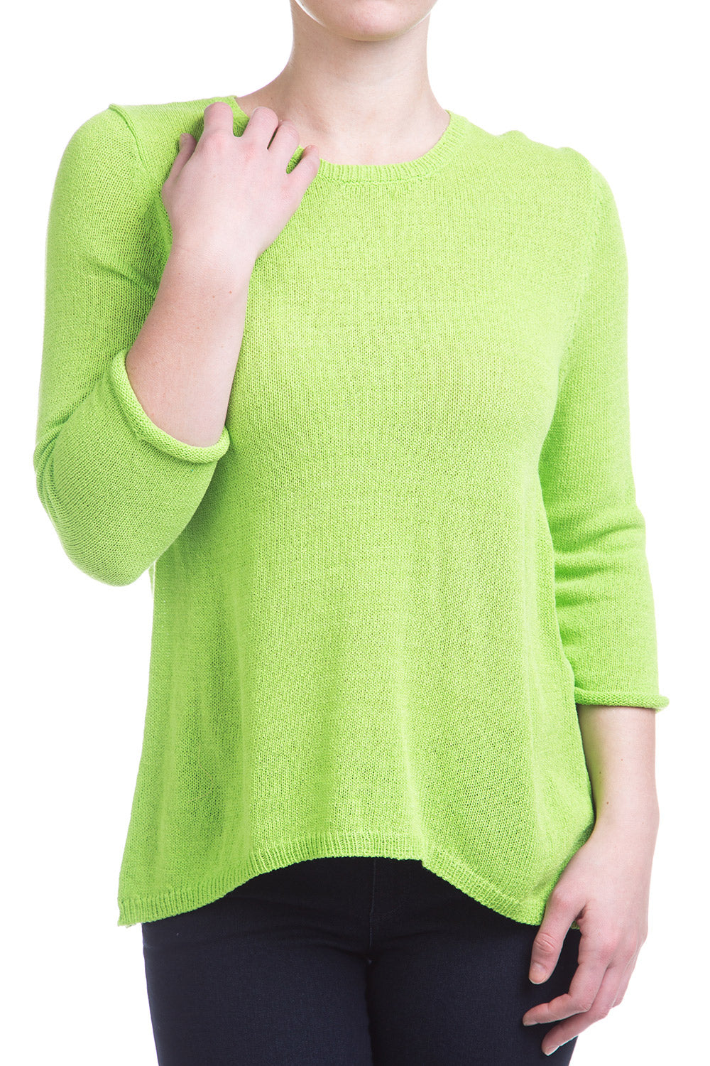 Type 4 Neon Lights Sweater In Lime