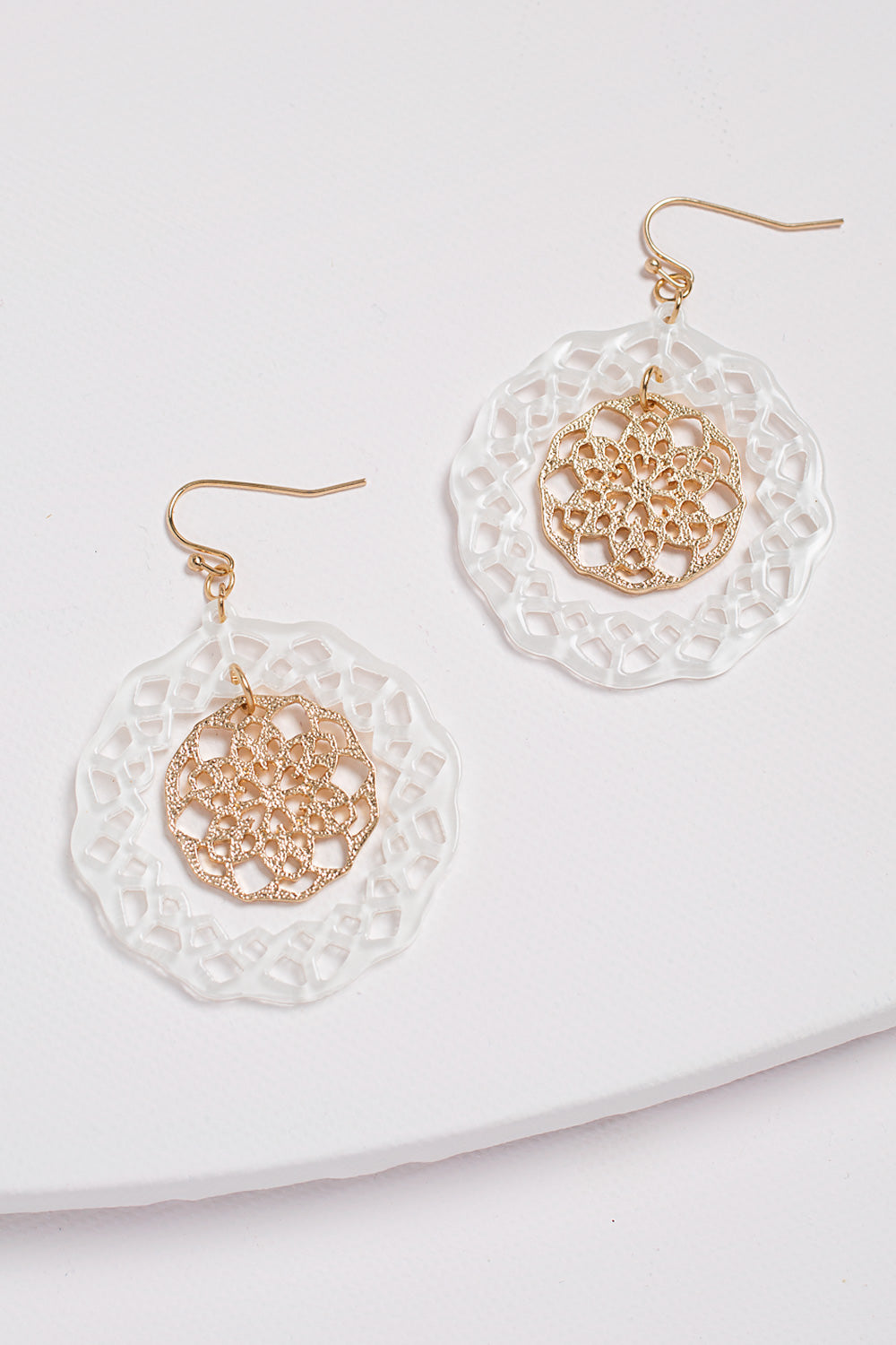 Type 1 Golden Snow Earrings