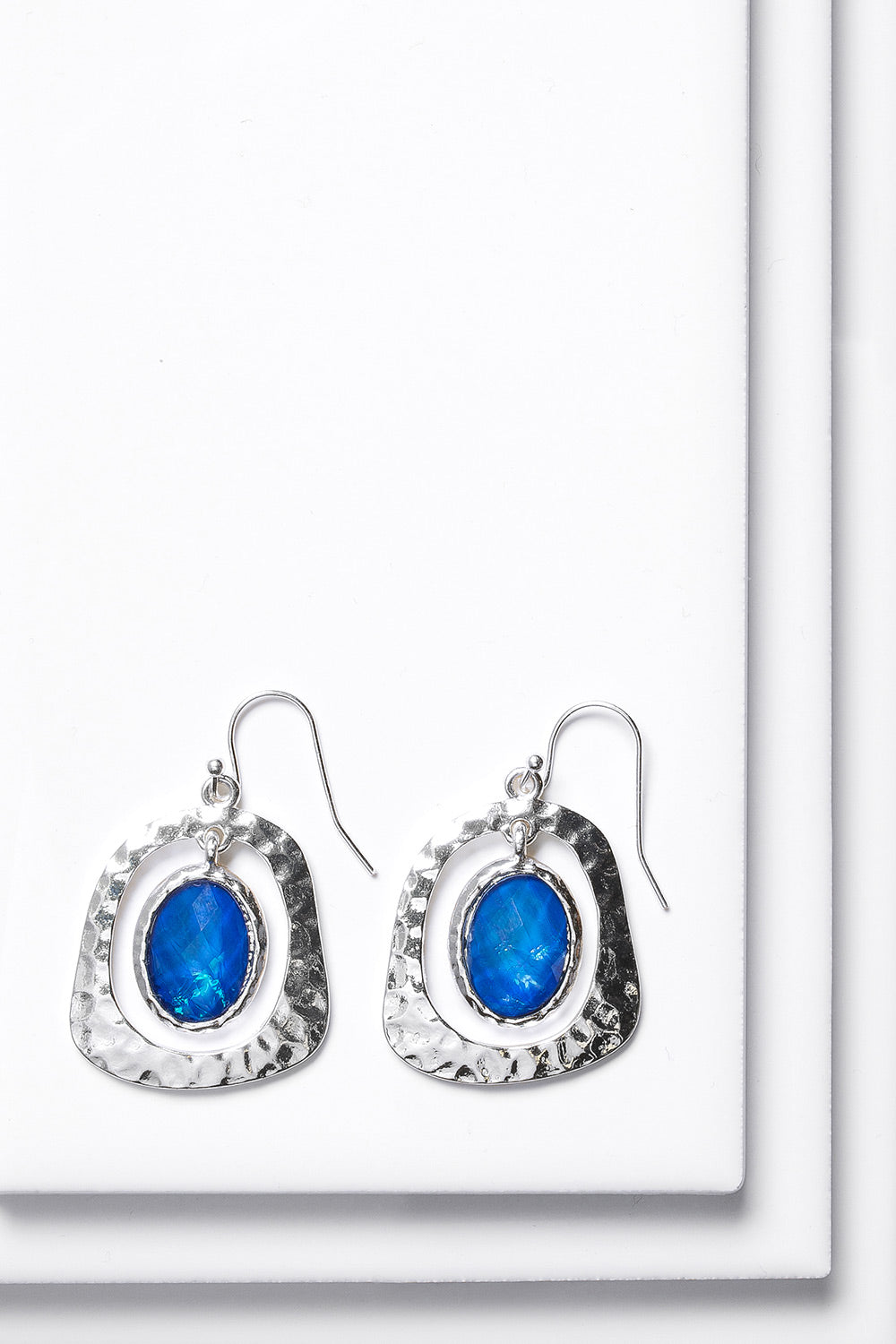 Type 4 Oval Cobalt Earrings