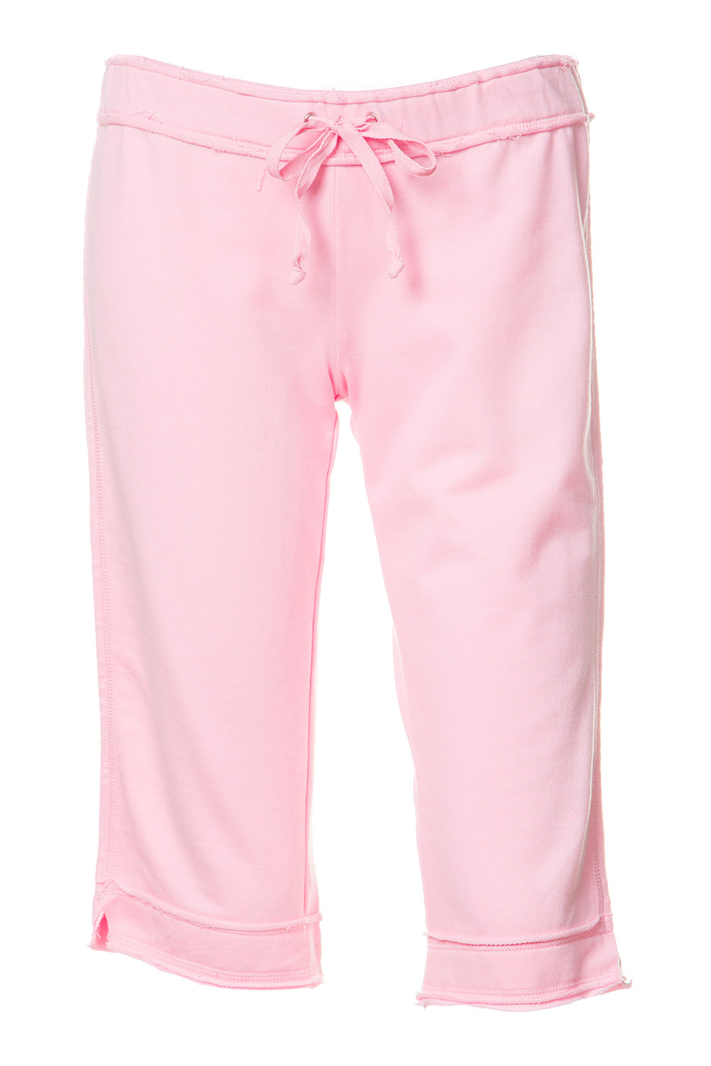 Type 1 Raw Edge Lounge Capri in Baby Pink