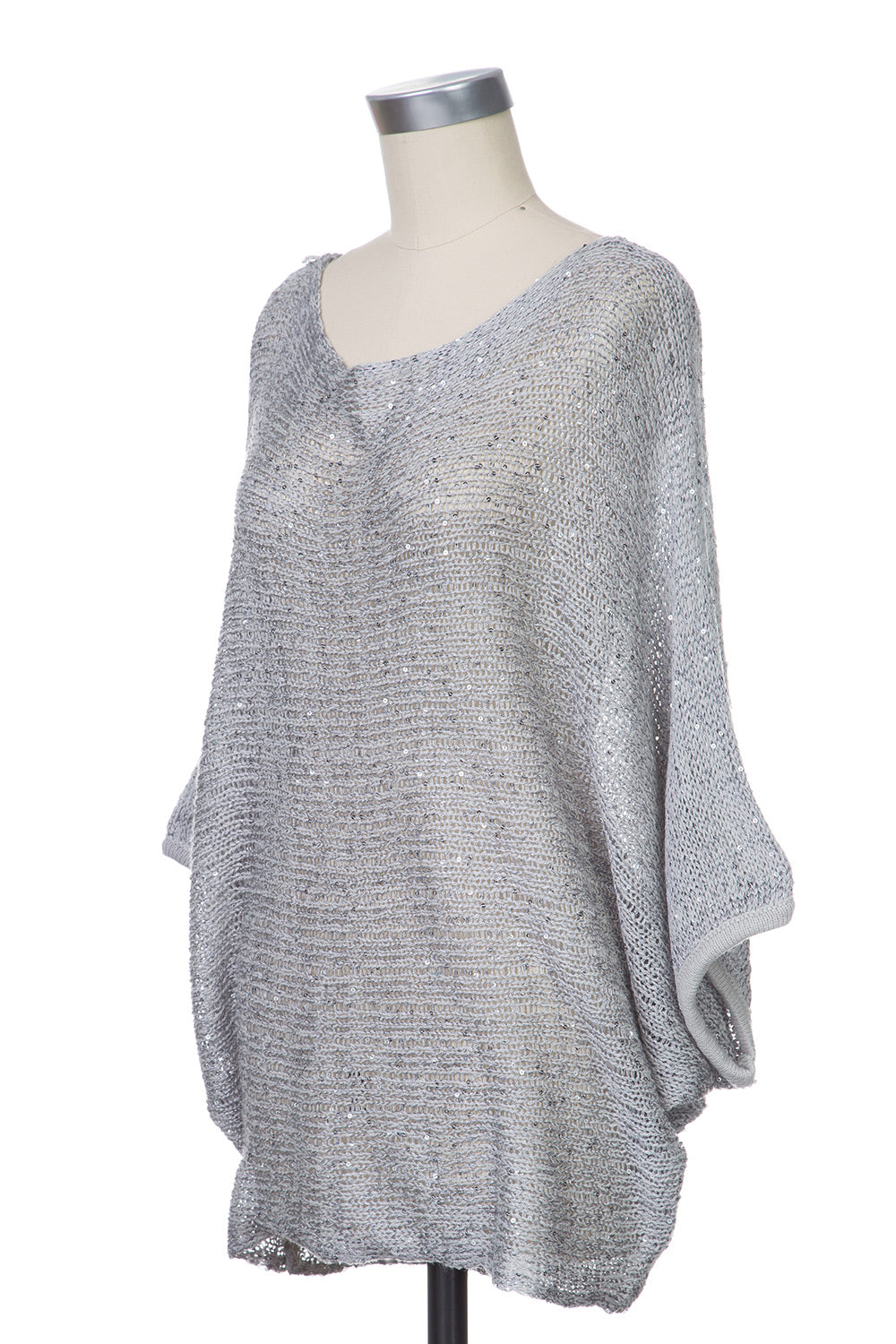 Type 2 Breezy Sequins Sweater in Silver