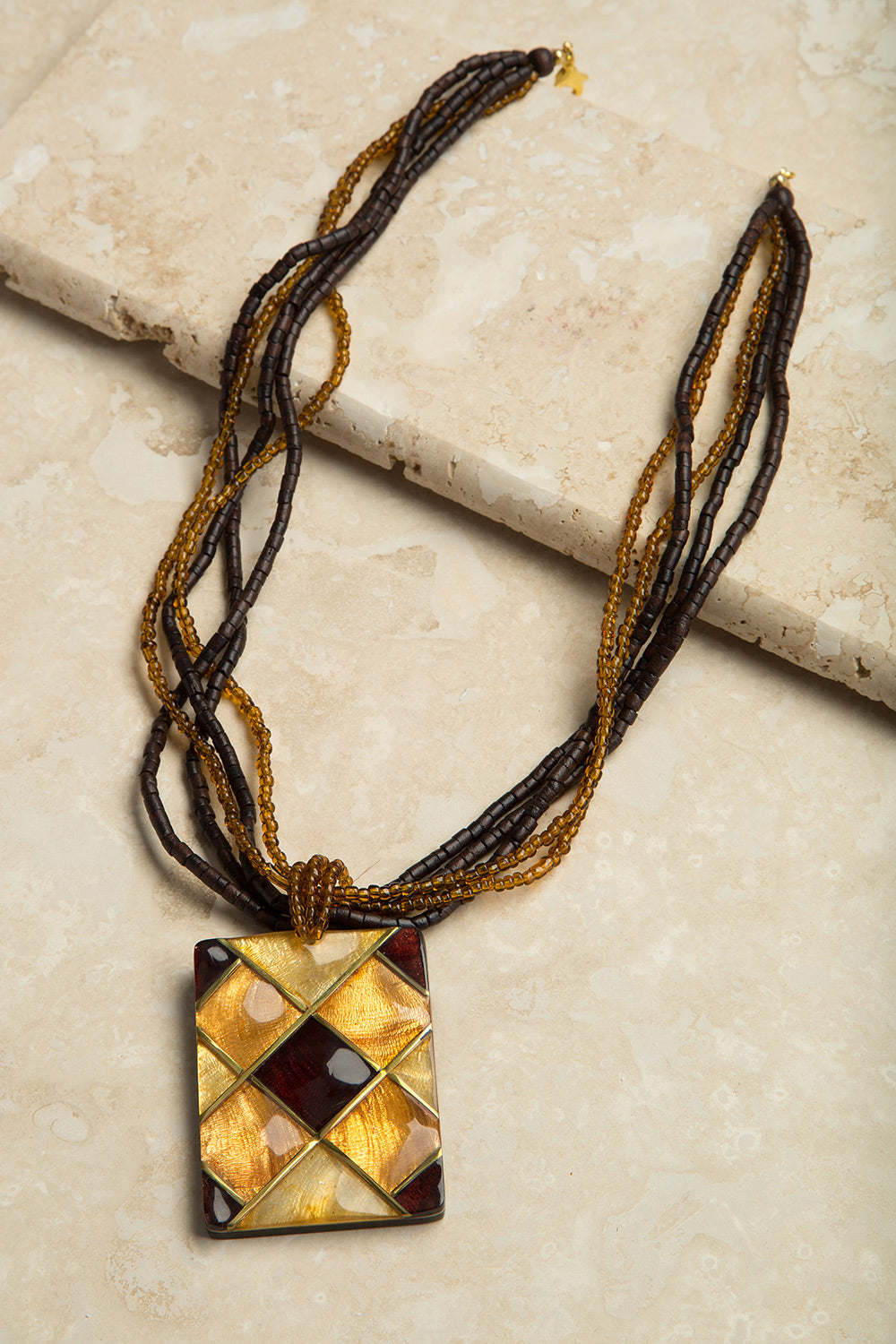 Type 3 Golden Glass Necklace