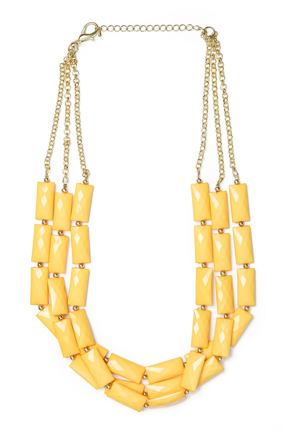 Type 3 Golden Blocks Necklace
