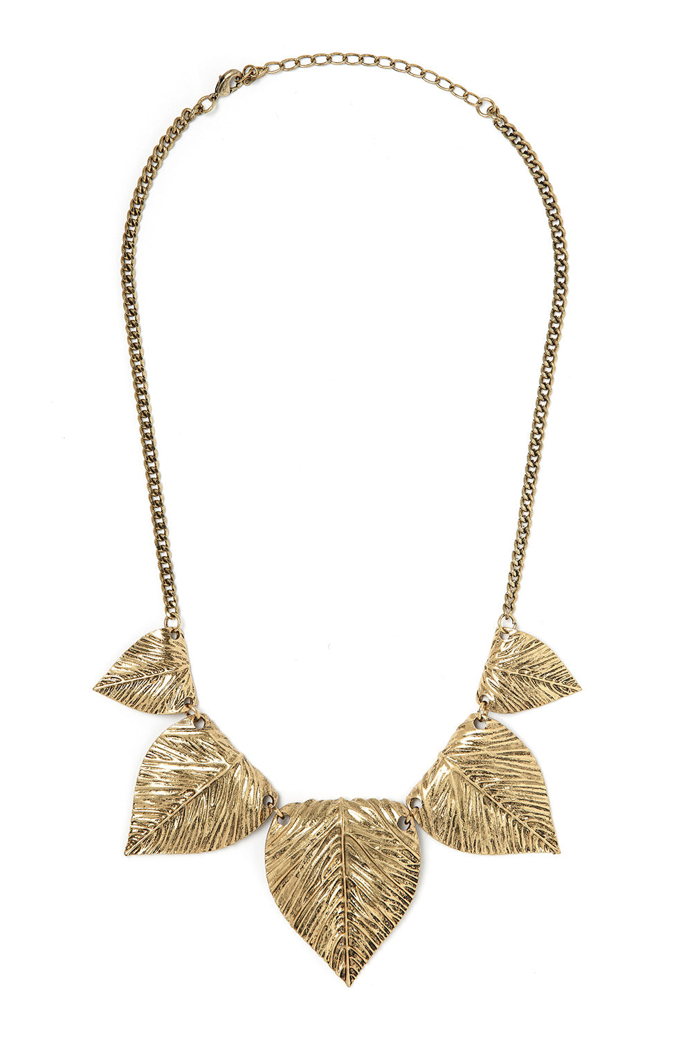 Type 3 Bronze Leaves Necklace