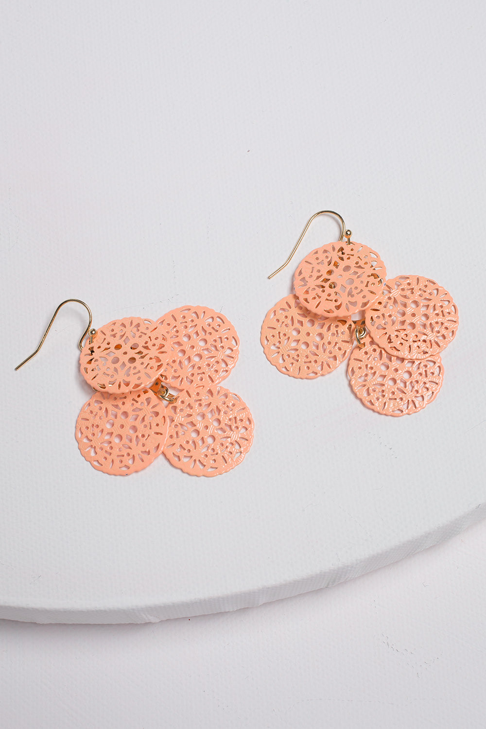 Type 1 Peach Basket Earrings