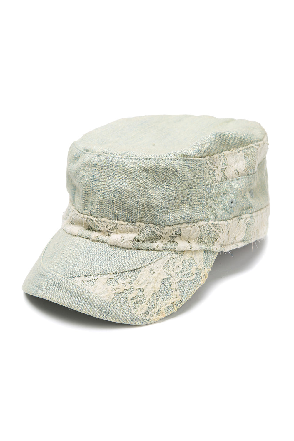 Type 2 Denim and Lace Hat