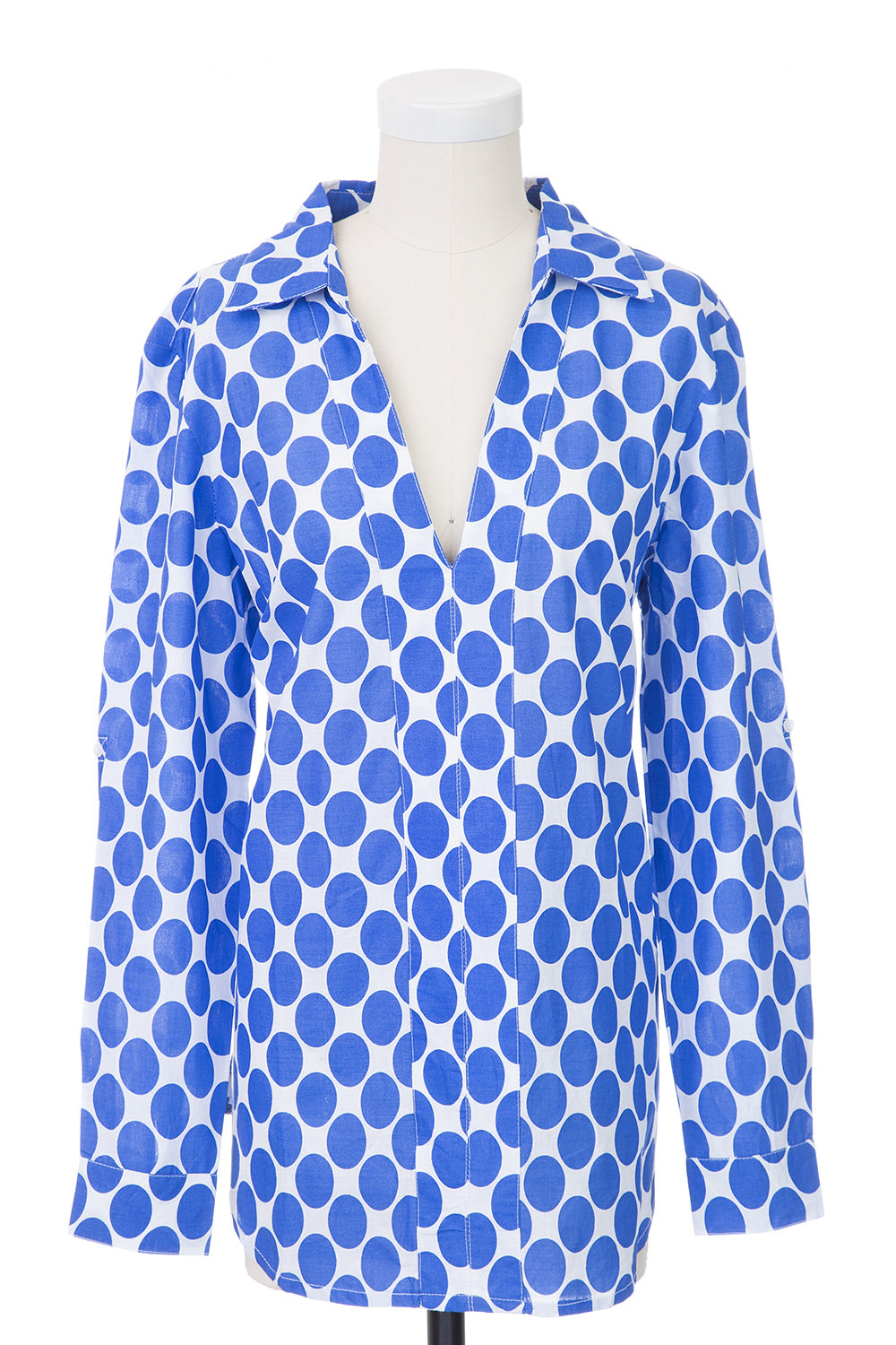 Type 1 Polka Party Top in Blue