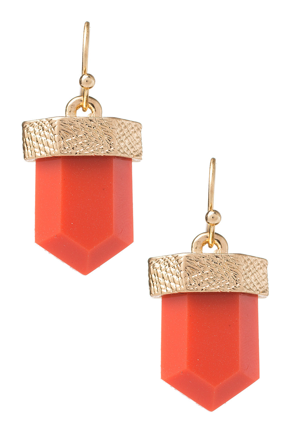 Type 3 Coral Quartz Earrings